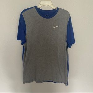 The Nike Tee Athletic Cut Tri Blend Color Block